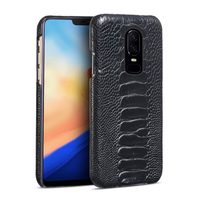 Genuine leather Ostrich Foot Skin Phone Case For Oneplus 3 3T 5 5T 6 Luxury Leather back cover