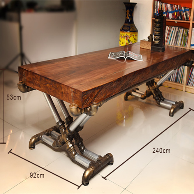 vintage office table. American Retro Industrial Wood Old Wrought Iron Tables Vintage Pine Desk Table Office Boss Factory Wholesale J002 On Aliexpress.com | Alibaba T