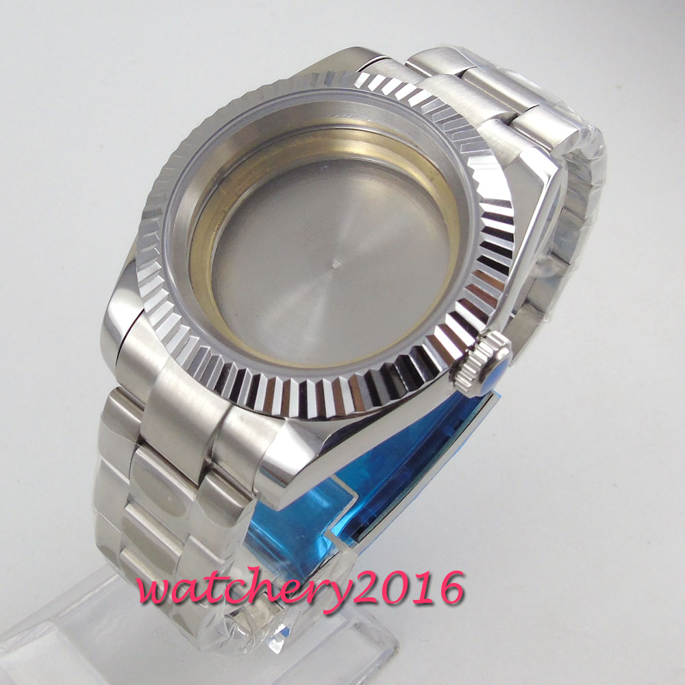 parnis 40MM 316L stainless steel Watch Case fit 2836 Miyota 8215 821A 8205 Mechanical Automatic movement