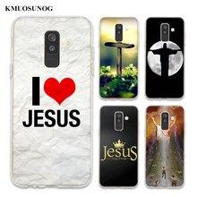 Transparent Soft Silicone Phone Case i love jesus jesus christ For Samsung Galaxy A6 A6+ A8 Star A8+ A7 A5 A3 Plus 2018 2016 cool stylish i love jesus bracelet brown