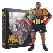 17.5Cm Mike Tyson Figuur Boxer Met 3 Hoofd Beeldhouwt Action Figure Collectibles Model Speelgoed
