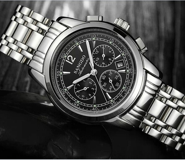 40mm Sangdo Business watch Automatic Self-Wind movement Sapphire Crystal Mechanical multifunction Men's watch 048SD watch crystal
