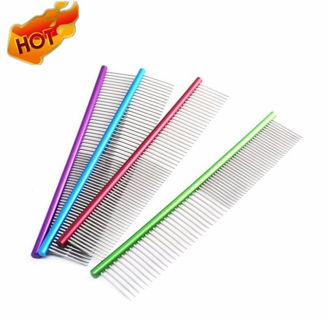 19cm High Quality Dog Comb Professional Steel Grooming Comb Dog Cat Cleaning Brush