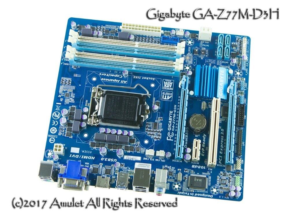 Gigabyte carte mère originale GA-Z77M-D3H LGA 1155 DDR3 Z77M-D3H conseils 32 GB Micro ATX Z77 Bureau Carte Mère Livraison gratuite