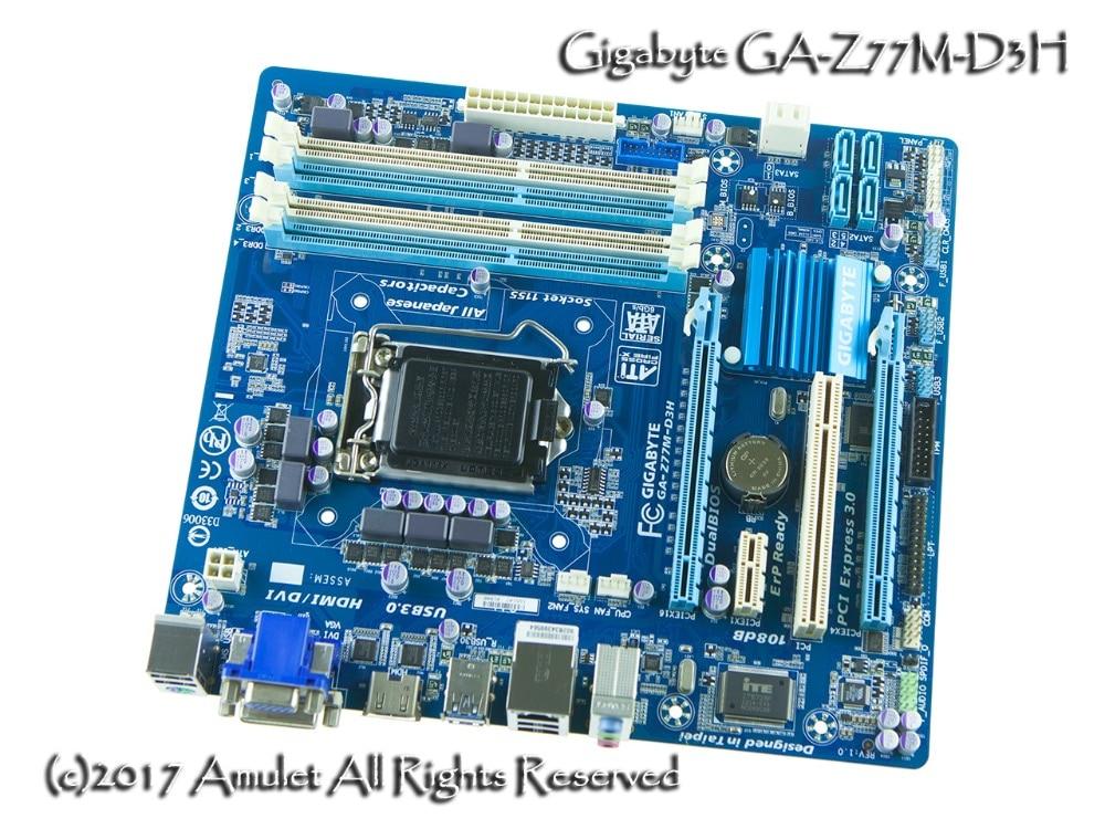 все цены на Gigabyte original motherboard GA-Z77M-D3H LGA 1155 DDR3 Z77M-D3H boards 32GB Micro ATX Z77 Desktop Motherboard Free shipping