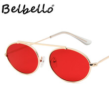 Belbello Metal Eyeglasses European and American Trends Women Fashion Sunglasses Frames Oval Retro Mirror Men