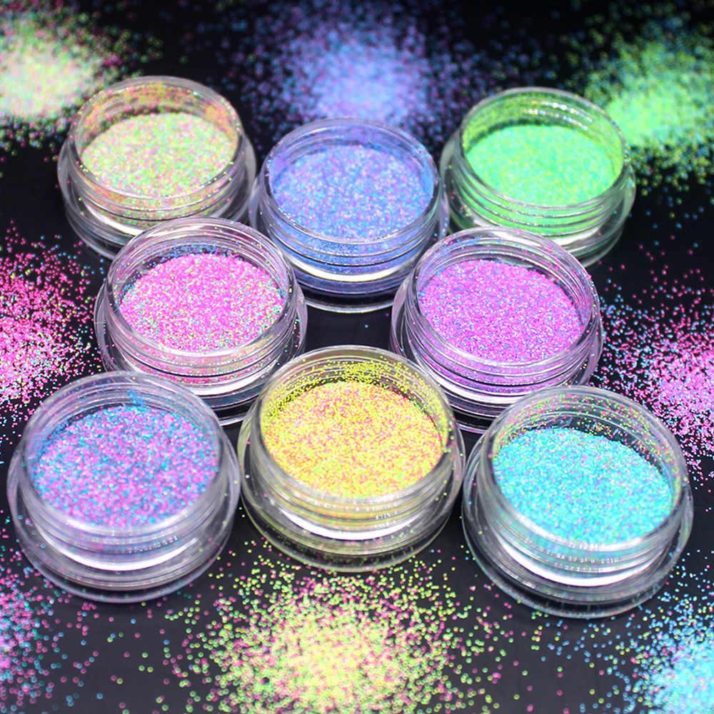 Nouveau chaud coloré paillettes ongles 3d tranche ensemble de poudre bricolage conception Nail Art paillettes décoration accessoires de mode