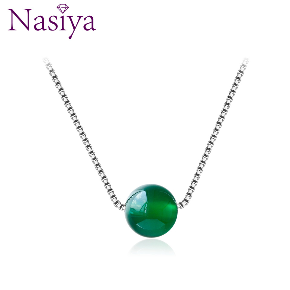 925 Sterling Silver Necklace Pendant Red Green Chalcedony Necklace Pendant Wedding Jewelry Party Valentine's Day Women's Jewelry