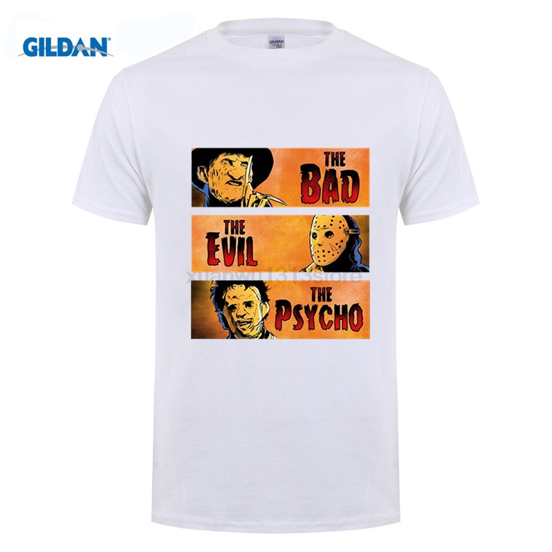 Freddy Kruger Jason Voorhees Pulp Fiction Parody Movie T Shirt Fashion Men And Woman T-Shirt Free Shipping Punk Tops Tee image
