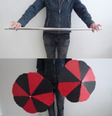 Magic Wand To Umbrella Cane Into Two Umbrellas Magic Tricks Magician Stage Gimmick Illusion Props Appearing