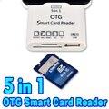 2015 hot 5 em 1 micro usb otg smart card reader sd tf memória adaptador de cartão para samsung s6 note4 para sony xperia z3 lg g4 htc m9