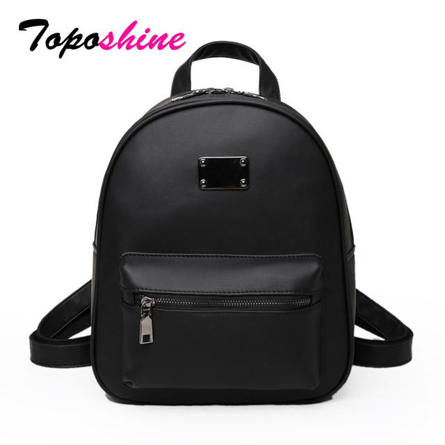 Toposhine Retro Popular Women Backpack Black PU Leather Women s Backpacks  Fashion Girls School Bag Small Female Backpacks 1582 483187d52d575