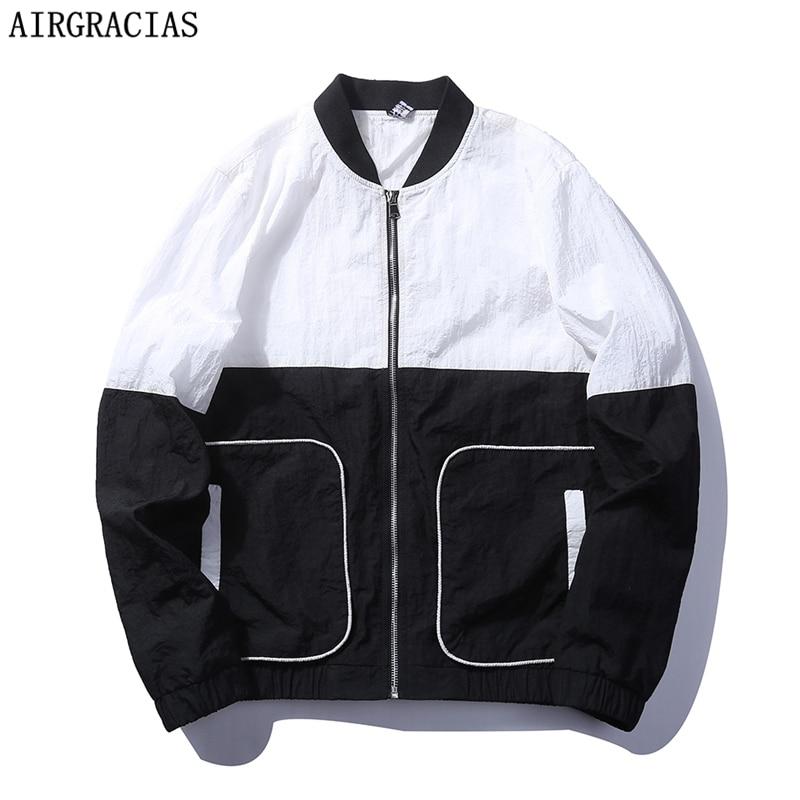AIRGRACIAS 패션 가을 남성 캐주얼 자 켓 남성 자 켓 Coats 남자의 미국 / EU 크기 M-3XL 스포츠 용 재킷 Overcoat Outwear Homme J67