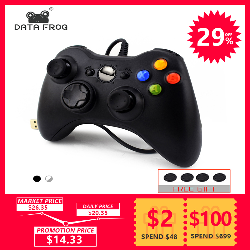 Daten Frosch USB Wired Gamepad Für Xbox 360 Controller Joystick Für Official Microsoft PC Controller Für Windows 7 8 10