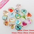 10-25MM Multicolor big Round Tree of Life Dome Glass Cabochons diy Scrapbooking fit cameo base setting Tree Life bijoux Flatback