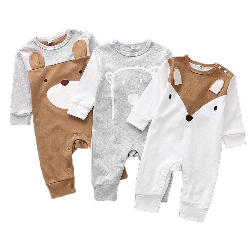 Cotton Baby Rompers Autumn Baby Girl Clothing Cartoon Baby Boy Clothes Newborn Clothes Roupas Bebe Infant Baby Jumpsuits newborn baby boy rompers autumn winter rabbit long sleeve boy clothes jumpsuits baby girl romper toddler overalls clothing