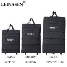 2019 LEINASEN 도매 초경량 수하물 여행 가방 대용량 범용 바퀴 접이식 접이식 잡아 당김 상자 수하물 가방