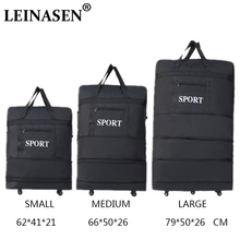 LEINASEN sac de voyage ultra léger avec roues universelles de grande capacité, rétractable pliable, sac de transport, vente en gros, 2019
