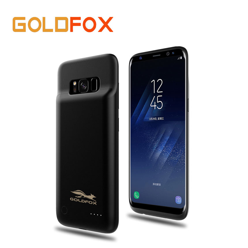 for samsung galaxy s8 external battery charger case cover 4000mah rechargeable power bank backup. Black Bedroom Furniture Sets. Home Design Ideas