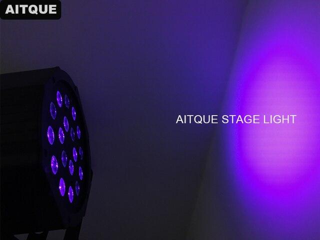 30 lot/pcs LED plat Par 18x3 W UV couleur éclairage avec DMX512 pour Disco DJ fête décoration violet PAR LED effet lumières