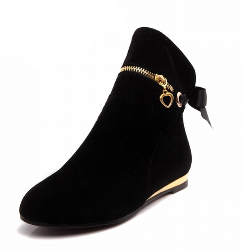 Wonderful Vintage Ankle Boots For Women Chunky Heel Martin Boots Flat Large Size