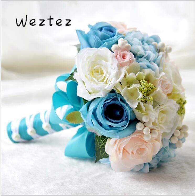 Handmade Rose Bouquet Bridal Bouquet Wedding Bouquet Artificial Flower For Wedding Decoration D577