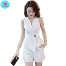 2019 new fashion small man professional suit + foreign pants white temperament female two-piece