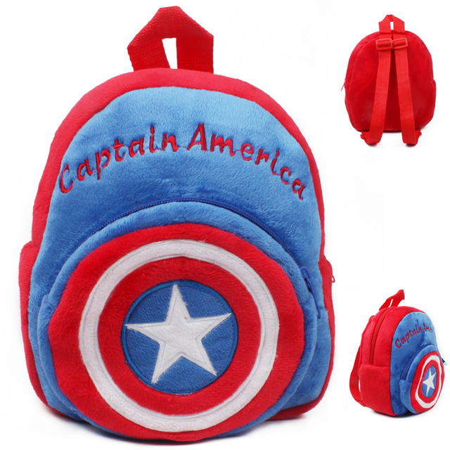 8e362a3657 New High Quality Captain America Plush Backpack kids cartoon Character  School Bag baby cute mini bags