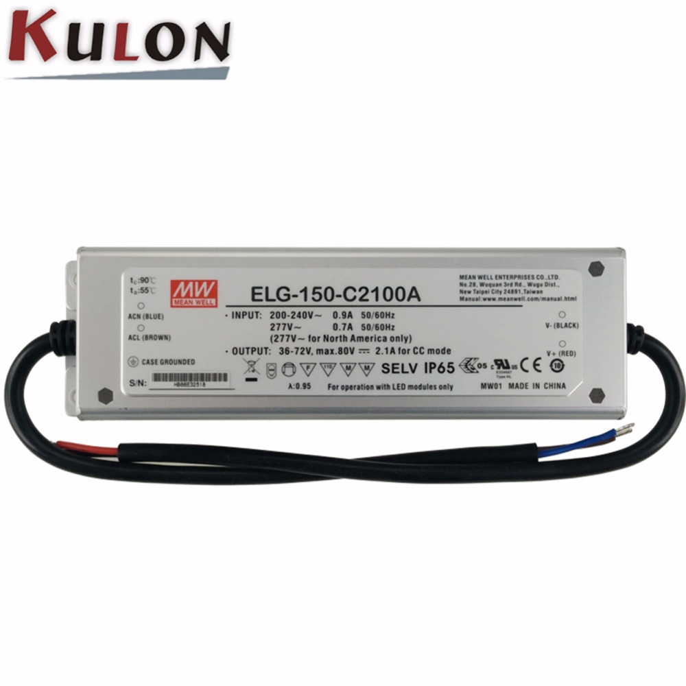 Original Mean well ELG-150-C2100A LED driver 1050~2100mA 36~72V 150W PFC IP65 current adjustable Meanwell power supply ELG-150-C mean well original elg 150 c2100a 80v 2100ma meanwell elg 150 80v 151 2w single output led driver power supply a type