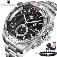 PAGANI DESIGN Top Luxury Quartz Watches Men Sports Calendar Waterproof Stainless Steel military Outdoor Clock Relogio masculino