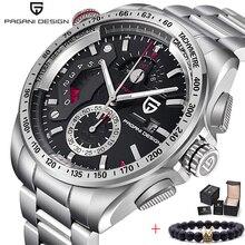 Pagani design 2020 novo topo de luxo relógios quartzo men sports calendário à prova dwaterproof água aço inoxidável militar relógio relogio masculino