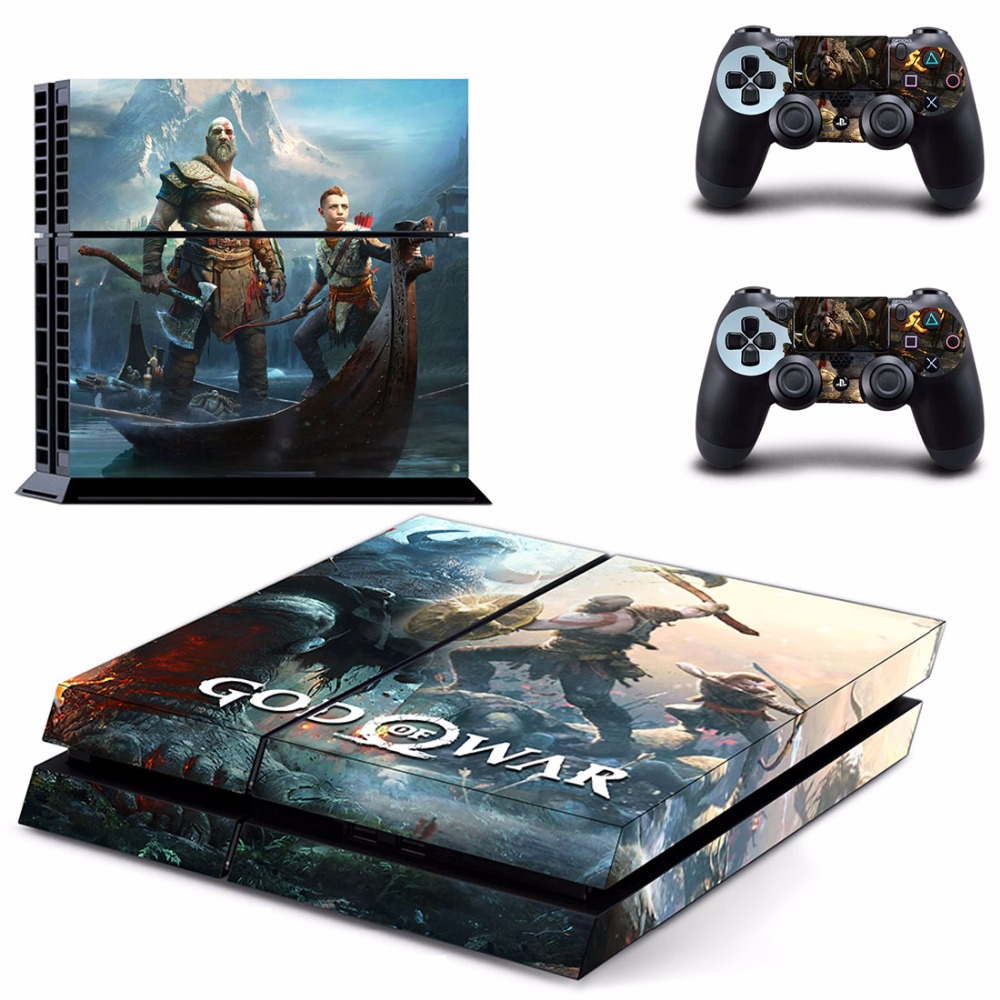 New God Of WAR PS4 Skin Sticker For Sony Playstation 4 PS4 Console protection film and Cover Decals Of 2 Controller image
