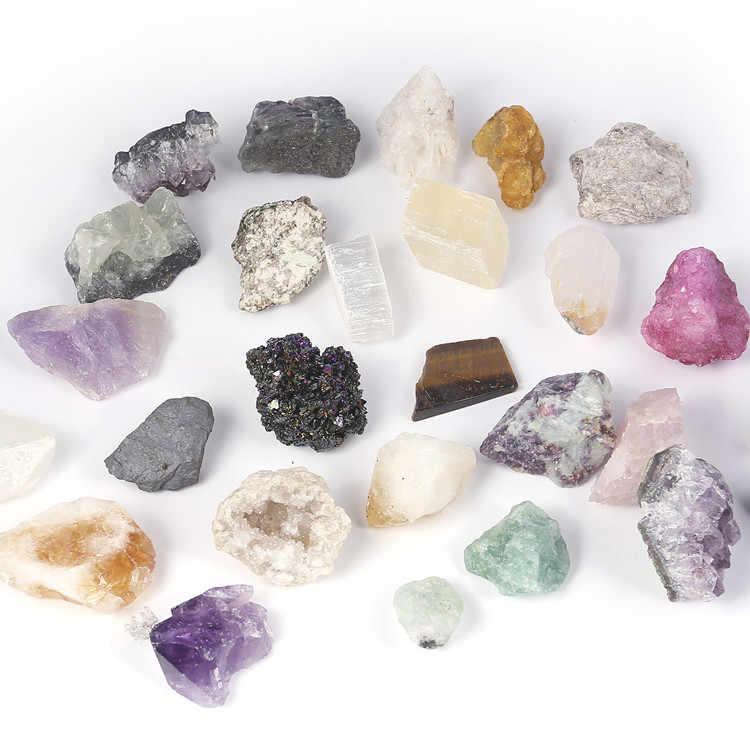 1 กระเป๋าผสมแร่ตัวอย่างหินคริสตัล Rock ธรณีวิทยาการสอนวัสดุของขวัญที่ดีที่สุดสำหรับเด็กเด็กวิทยาศาสตร์การศึกษาของเล่น