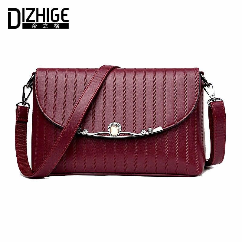 ФОТО DIZHIGE Brand Summer Sheepskin Women Messenger Bags Genuine Leather Bags Women HandBags Designer Crossbody Bags Shoulder Ladies