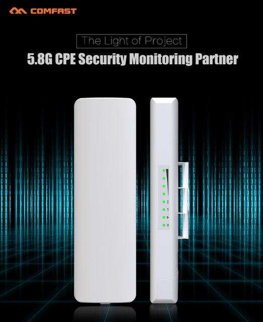 2 ШТ. CF-E312A Беспроводной мост Открытый CPE 300 Мбит COMFAST 5.8 ГГц WI-FI AP Антенны wi-fi signa усилитель для IP проект камера