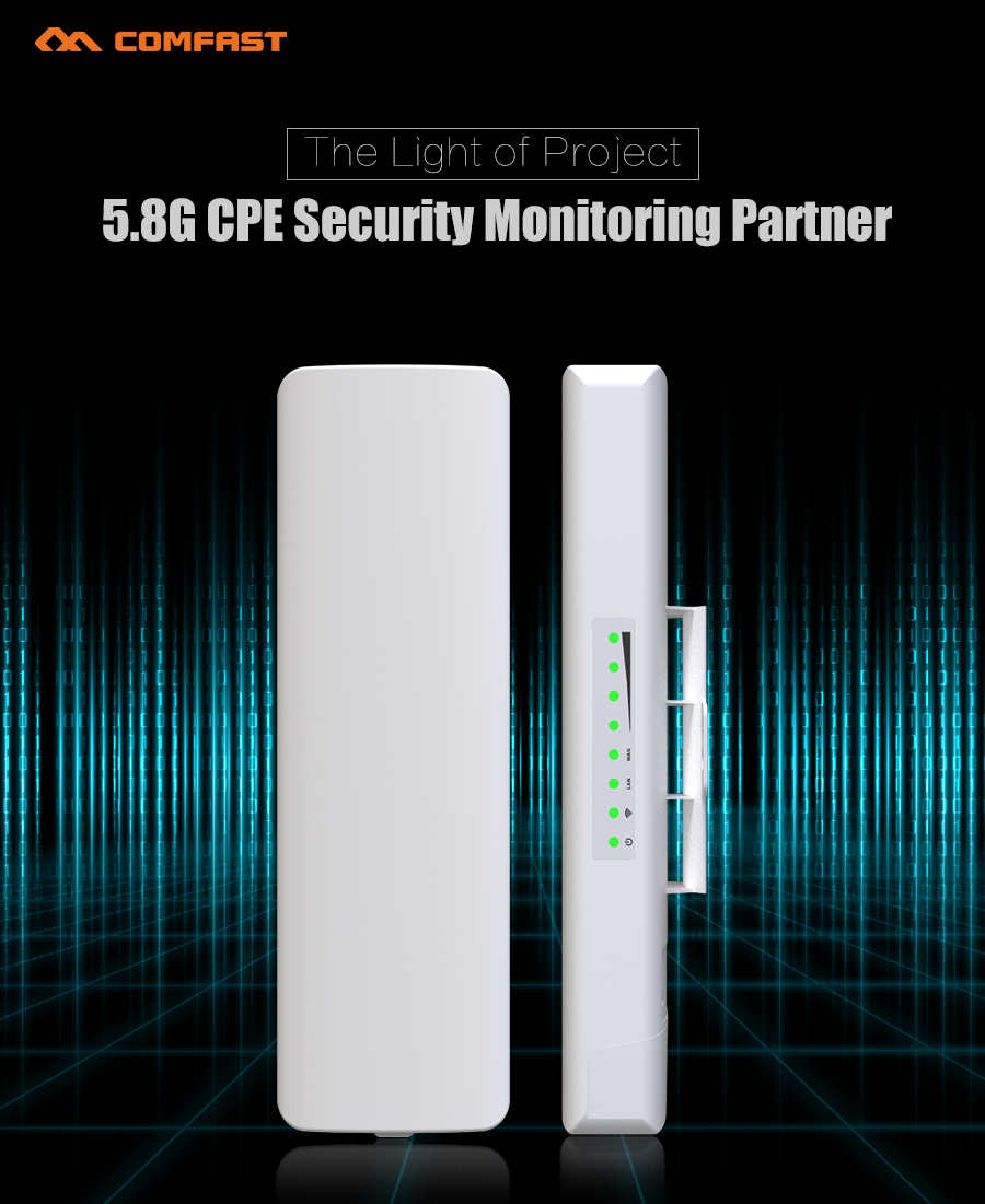 2PCS COMFAST CF-E312A Wireless bridge Outdoor CPE 300Mbps 5.8ghz WIFI AP Antenna wifi signa amplifier for IP camera project comfast full gigabit core gateway ac gateway controller mt7621 wifi project manager with 4 1000mbps wan lan port 880mhz cf ac200