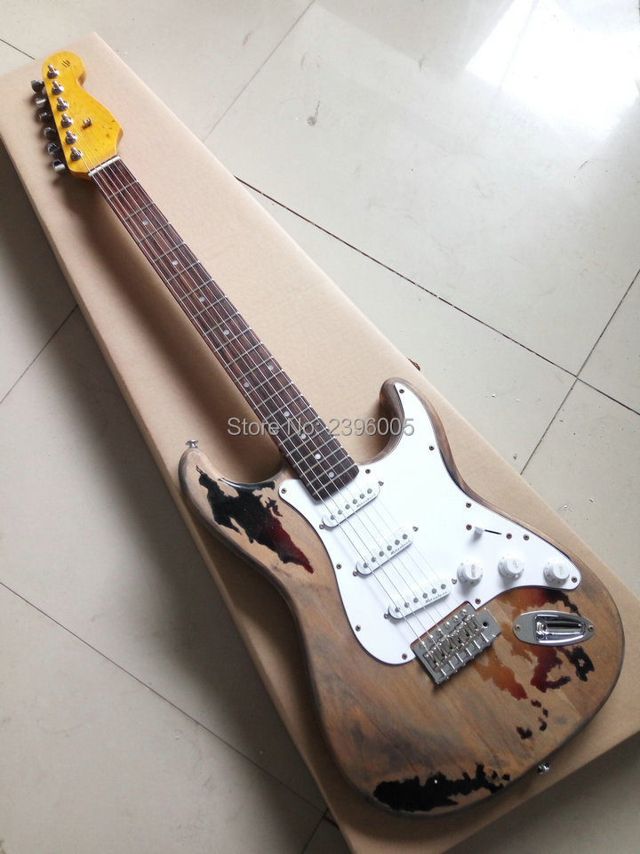 Custom Shop 100% handmade super relic st electric guitar alder body standard style 21 fretsboard high quality free shipping  недорого