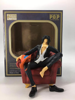 Anime One Piece Ace Portgas D Ace Sitting Chair Suit Ver. PVC Action Figure Doll Collection Model Toy Gift