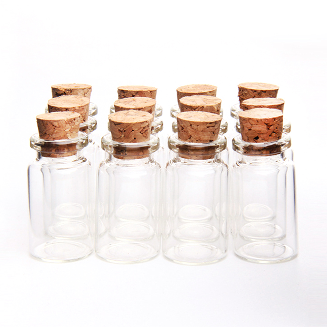 4pcs 7ml Mini Gl Bottles Empty Sample Jars With Cork 22 40mm Storage Stoppers For Diy Craft Decoration In From Home