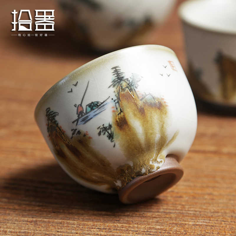 2018 Novelty Ceramic Cup Puer Teacups Chinese Porcelain Handpainted Kung Fu Tea Sets Drinking Cups Coffee Cup Unique Gift