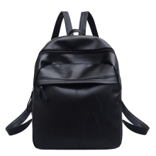 NEW-Pu Leather Backpack Fashion Wild Student Bag Practical Travel