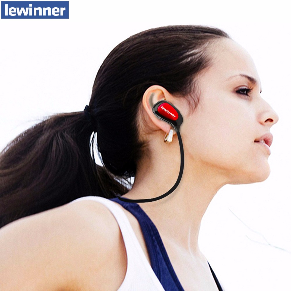 lewinner K3 IPX4-rated sweatproof stereo bluetooth 4.1 headphones wireless sports earphones aptx headset with MIC for iphone 5s