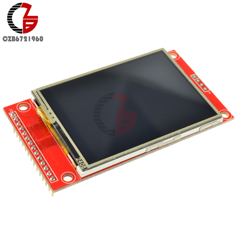 цена на 2.4 240x320 SPI TFT LCD Serial Port Module + 5V/3.3V PCB Adapter Micro SD ILI9341 White LED