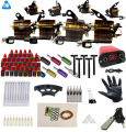 Complete Tattoo Kit 4 Rotary Tattoo Machine 40 Color Inks 50 Needles Tattoo Power Supply Set Tattoo Rotary Gun supplies