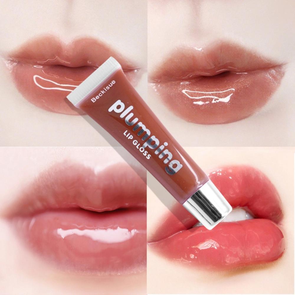 2019 Moisturizer Lip Gloss Colorful Micro-flash Glass Glaze Sexy Big Lips Pump Lasting Moisturizing Makeup Tools