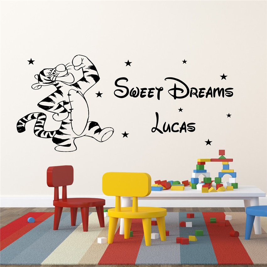 Removable WINNIE the Pooh with Tigger Nursery Girls Boys Kids Room Wall Stickers