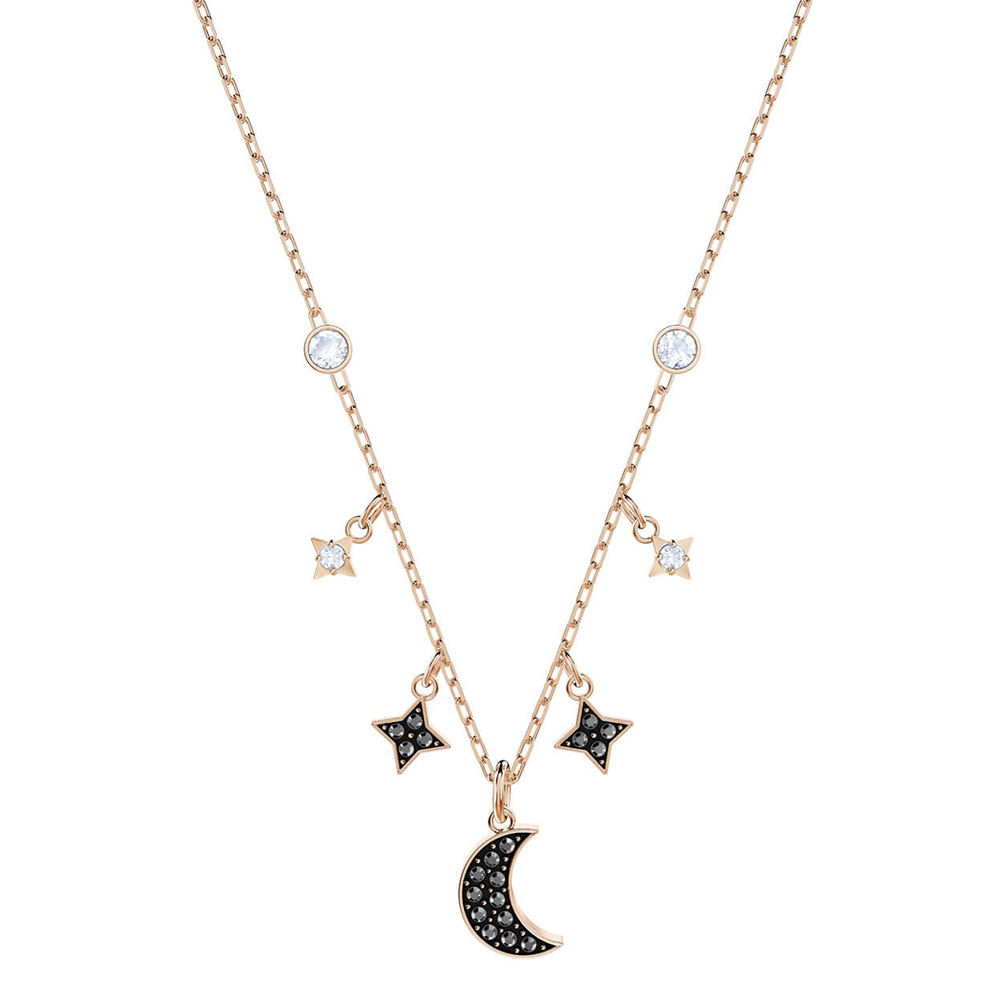 SWA RO 19 Years New Mysterious moonlight stars moon romantic clavicle chain Womens Necklace Jewelry Anniversary Gift 5429737   SWA RO 19 Years New Mysterious moonlight stars moon romantic clavicle chain Womens Necklace Jewelry Anniversary Gift 5429737