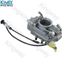 Frete grátis-king way-conjunto de carburador desempenho TM45-2PK para mikuni hsr45 45mm bomba de acelerador
