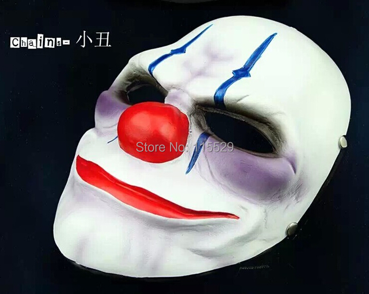 Resin Halloween PAYDAY 2 Dallas Mask Heist Joker Costume Props Collection Cosplay - Party Supplies store