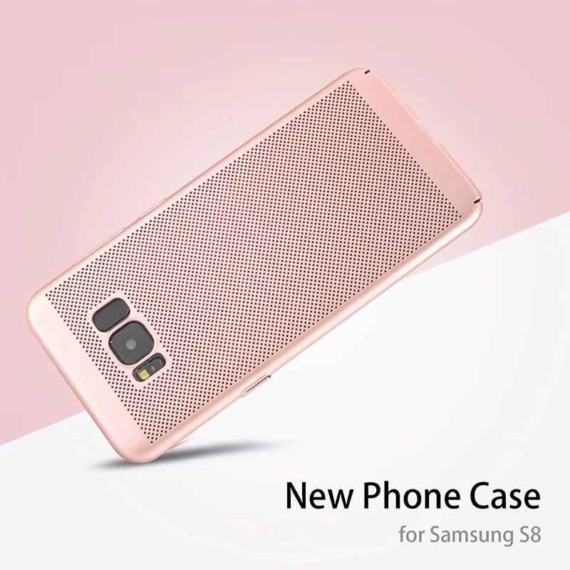 Tản nhiệt Dành Cho Samsung Galaxy A3 A5 J2 J3 J5 J7 THỦ Làm Mát Trường Hợp S6 S7 Edge S8 S9 plus Mỏng 360 Ốp Lưng Ốp Lưng